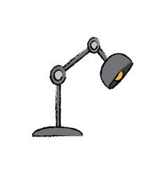 desk lamp light electric bulb decoration vector image vector image