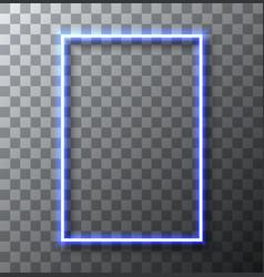 modern neon banner on transparent vector image