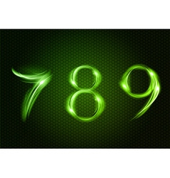 abstract 789 green vector image