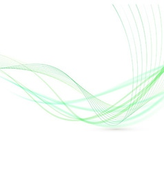 Abstract green swoosh lines fly background vector