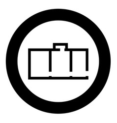 Apartment plan black icon in circle isolated vector