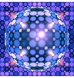 Blue shining disco ball vector image