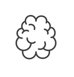 brain icon line outline art isolated vector image
