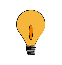 Bulb light electricity creativity object icon vector
