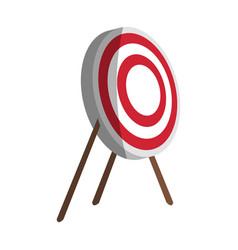 bullseye board icon image vector image
