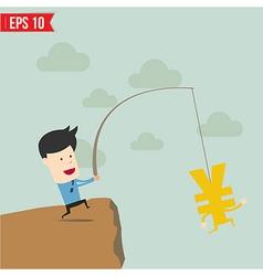 Businessman Fishing Concept vector