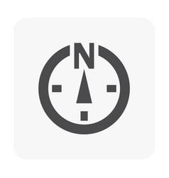 Camping icon black vector