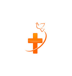 Christian dove logo vector
