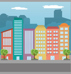 city landscape icon vector image