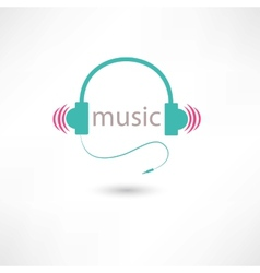Colored music headphones vector