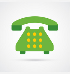 colored phone trendy symbol vector image