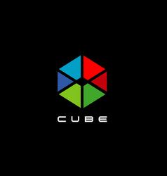 colorful cube logo sign symbol icon vector image