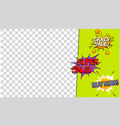 comic advertising concept vector image