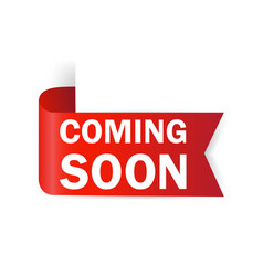 Coming soon sale tag sale website banner vector