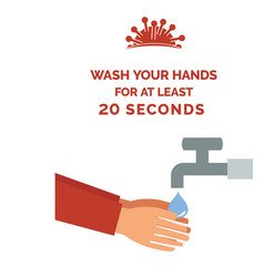 coronavirus poster with text wash your hands vector image