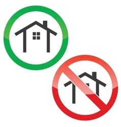 Cottage permission signs set vector