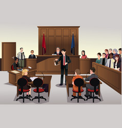 Court scene vector