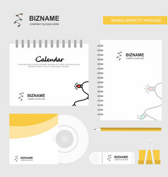 decoration light logo calendar template cd cover vector image