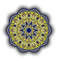 decorative round ornament pattern vector image