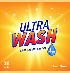 detergent advertising concept design for product vector image