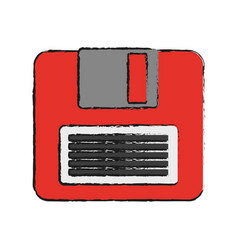 Diskette icon image vector
