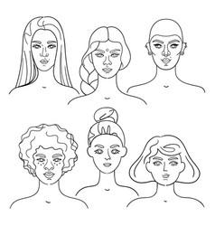 Diversity faces - set collection vector