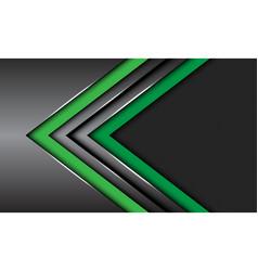 Double green dark grey metallic arrow circle mesh vector
