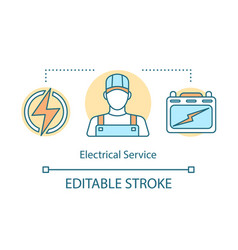 Electrical service concept icon professional vector