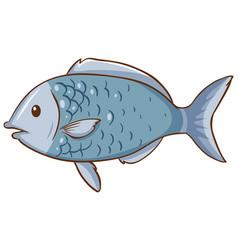 Fish cartoon style isolated vector