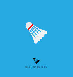 flat icon badminton game vector image