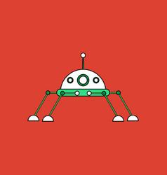 Flat icon design collection spaceship icon vector