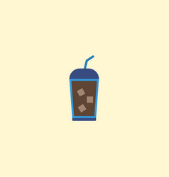 flat icon iced drink element vector image