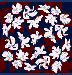 flowers abstract draw pattern on color background vector image