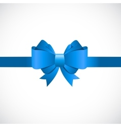 Gift Card with Blue Bow and Ribbon vector image