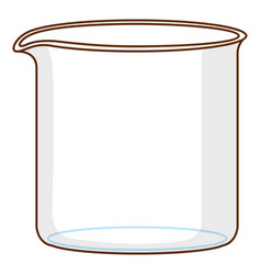 Glass beaker with nothing in it on white vector