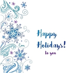Happy holidays greeting card royalty free vector image m4hsunfo