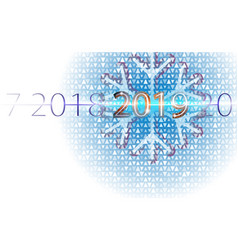 happy new year background aureate inscription vector image