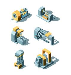 Heavy industry working factory line metal vector