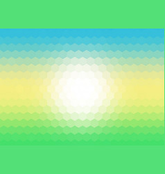 Hexagaonal mosaic background using spring colours vector