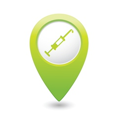 hospital icon pointer green vector image