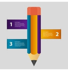 infographics with a pencil vector image