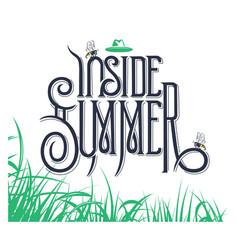 inside summer lettering sign vector image