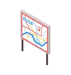 isometric subway map vector image