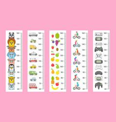 kids height chart vector image