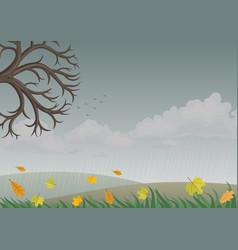 Landscape with autumn nature vector