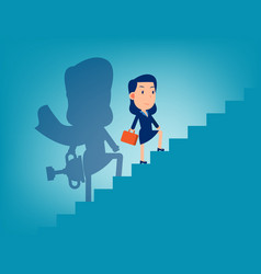 Leader and stairway to success successful vector