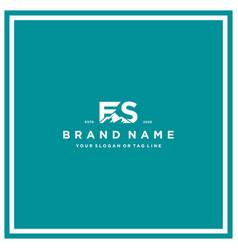 Letter fs mountain logo design vector