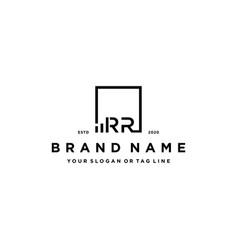 Letter rr square logo finance design vector
