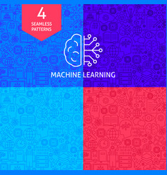 line machine learning patterns vector image