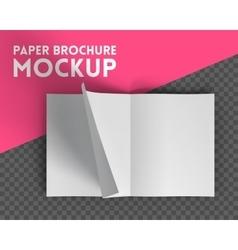 Magazine mockup on transparent background vector image